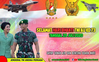 SELAMAT HARI BHAKTI TNI AU KE 73