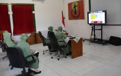 Video Conference Ketua Persit PCBS Akmil dalam Upaya Mencegah Stunting bagi Keluarga Besar Akademi Militer